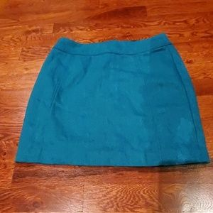 H&M Turquoise Mini Skirt w/ Herringbone Pattern